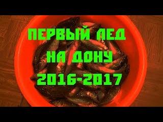 первый лёд 2016 2017. Ловля Донского бирюка. Сом_Елец