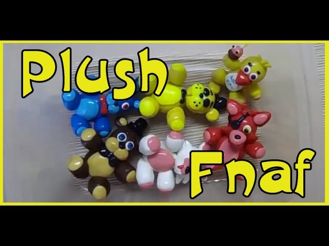 Плюш аниматроники Фнаф из пластилина Fnaf Animatronic Plush Pldstilin