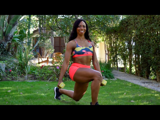 Buttock Workout - Butt and Thigh Workout - At Home Buttocks Workout with Weighs