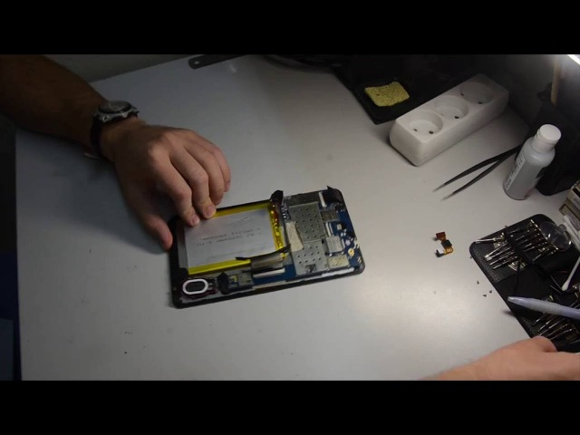 Разборка и замена сенсора на китайском планшете ImPAD 6413