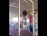 Закир Найманбаев, жмёт стоя 140 кг на 2 повтора!