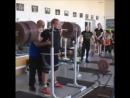 Март Сейм, приседания 370 кг на 2 раза