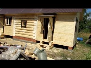 Баня с хозблоком / Баня 3 на 3 из сруба с предбанником и хозблоком