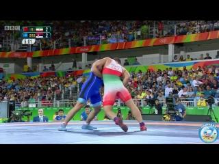 РИО-2016 греко-римская борьба 75 кг утешиловка Саид Абдвали (Иран) - Виктор Немеш (Сербия)