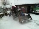 Самодельный, полноприводной мини трактор с погрузчиком, двигателем Ока.