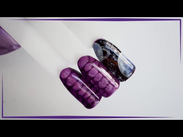 Дизайн c гель-лаком TNL Magnet Lux. Рептилия и космос.
