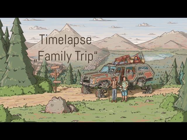 Digital Painting TimelapseTutorial Family Trip (Mischief)