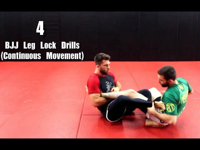 4 BJJ Leg Lock Drills (Continuous Movement For Both People )