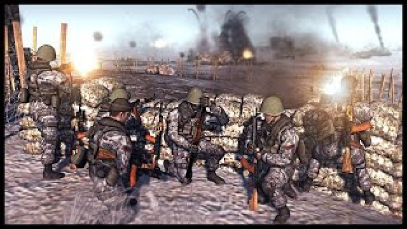 North Korean Frontal Assault - Coastal Fort Siege | Men of War Assault Squad 2 Modern Mod Gameplay