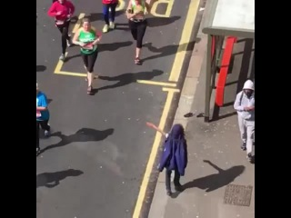 Little bastard in the London Marathon