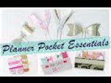 DIY TUTORIAL Planner Pocket Essentials  Paperclips, Washi Tape Sample Cards and Page Flags