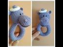 погремушка вязаная бегемот крючком Мастер-класс amigurumi crochet beanbag hippo