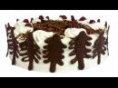 Торт Чёрный лес . Шоколадный бисквит, взбитые сливки и вишневая начинка.