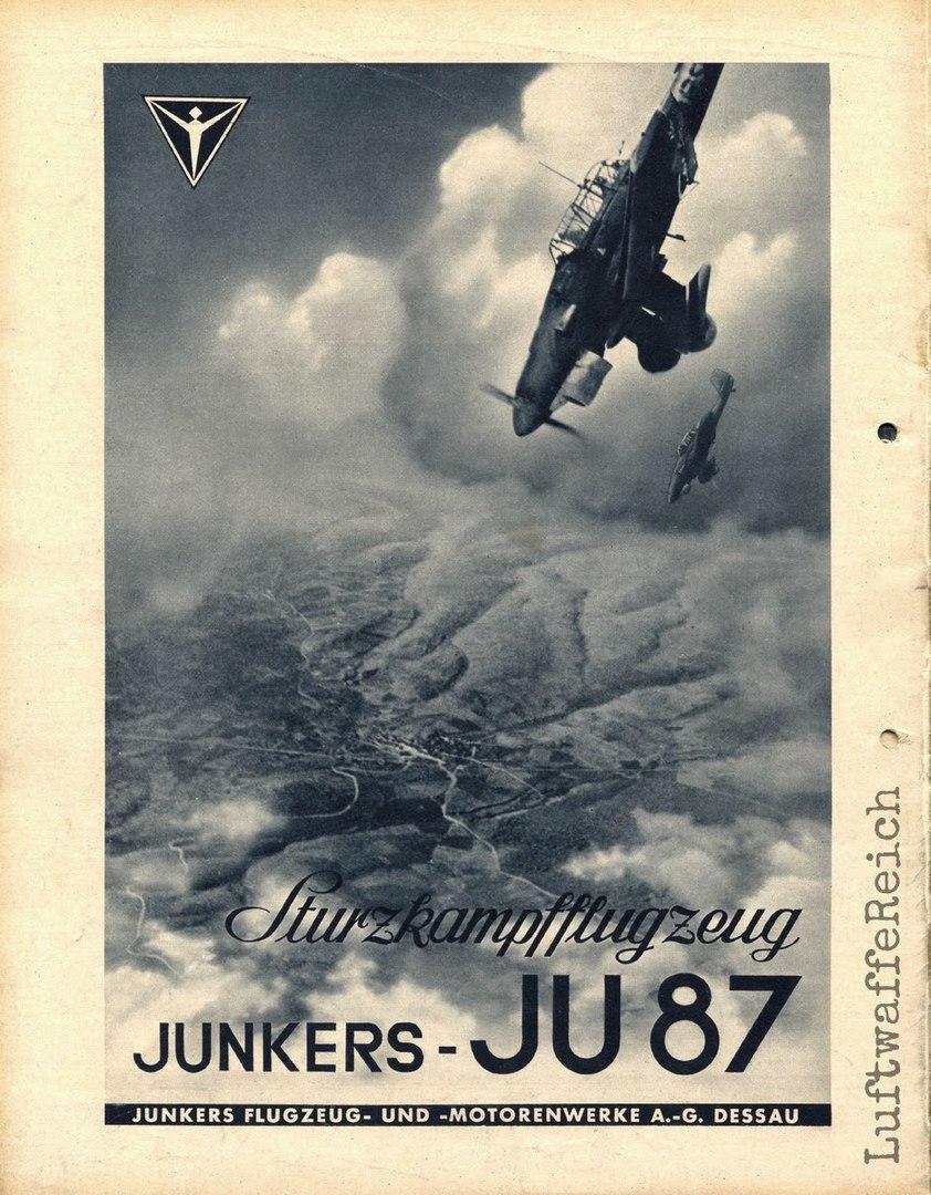 Junkers Ju 87 Sturzkampfflugzeug, Германия '40 гг.