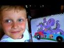 Развлечения для детей . Раскрашиваем машинки Хот Вилс. Hot Wheels  Видео для детей