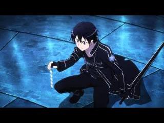 SAO S01E09 - Kirito vs. Blue-Eyed Demon (English Dub 720p)