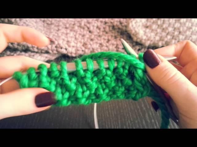 НЕ традиционный узор Путанка спицами Для шарфа и пледа Современное вязание в