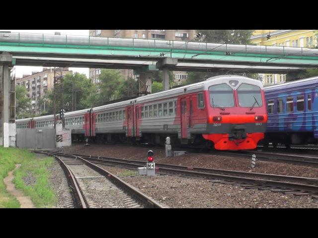 Электропоезд ЭД4М-0043 станция Москва-Пассажирская-Смоленская