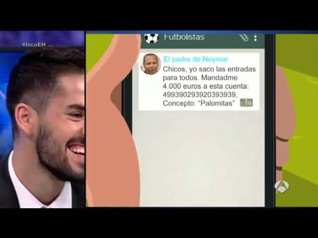 """Así sería el grupo """"futbolistas"""" en el Whatsapp de Isco jugador del Real Madrid"""