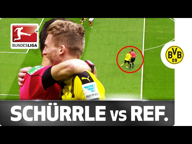 Ouch World Champion Schürrle Crashes into the Referee