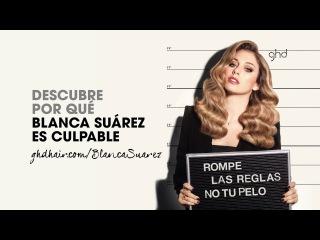 Blanca Suárez y #ghdplatinum copper luxe