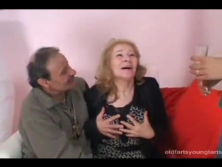 Horny Old Couple Have A Hot Threesome With A Cute Brunette Teen