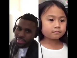 Smule Sing app performance ft. Jason Derulo and a little girl fan - YouTube