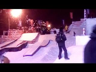 Парк горького 2016 Открытие сноупарка
