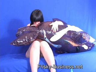 Fetish fantasy series inflatable lounger video