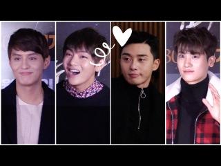 방탄소년단(BTS) 뷔(V).박서준.박형식..'화랑'이 떴다!! @두 남자 VIP시사회