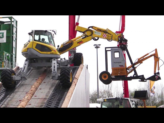 Amazing Menzi Muck M5 45 All Terrain Excavator Demo Show @ Bauma 2016