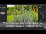 Монтаж видео. Цветокоррекция при монтаже видео в Final Cut Pro X.