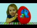 Университет Монстров яйцо сюрприз открываем игрушки Giant huge egg surprise Monsters University toys