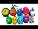Сюрпризы из теста/пластилина ПлэйДо открываем игрушки Surprises de jouets dargile Playdoh