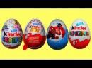 Черепашки Ниндзя, Человек Паук, Феи, и Хеллоу Китти Киндер сюрприз яйца открывае ...