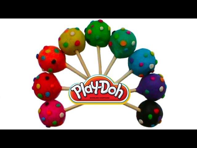 Конфетки с сюрпризом открываем игрушки Surprises cupa chups de jouets d'argile Playdoh