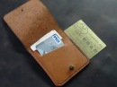 Работа с кожей. Мини кошелек из кожи .Making leather simple wallet