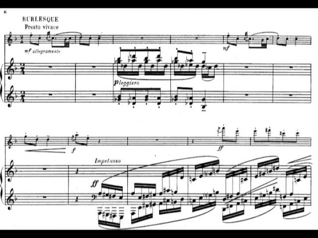 Alfredo Casella - Sicilienne et Burlesque for Flute and Piano, Op. 23 (1914) [Score-Video]