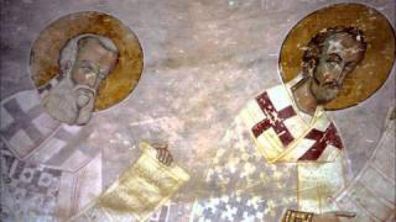 Фрески собора Христа Спасителя в Цаленджихе Песнопение хора монастыря Зарзма