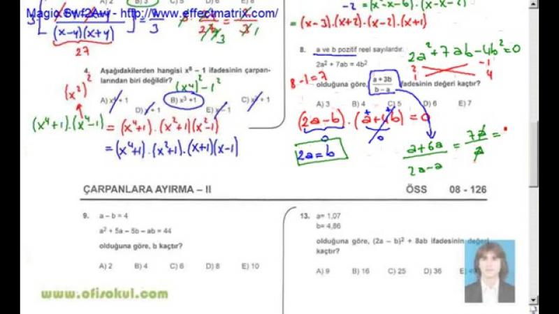 30-Çarpanlara Ayırma 2 - Matematik Soru Çözme Seti - KPSS - YGS - LYS