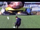 Lionel Messi Beats Giant Robot Keeper  ► Unbelievable Precision ||HQ||