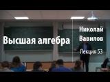 Лекция 53 Высшая алгебра Николай Вавилов Лекториум