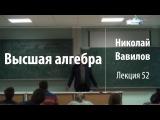 Лекция 52 Высшая алгебра Николай Вавилов Лекториум