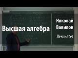Лекция 54 Высшая алгебра Николай Вавилов Лекториум