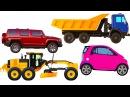 Мультик про машинки. Виды транспорта. Развивающее видео для самых маленьких.