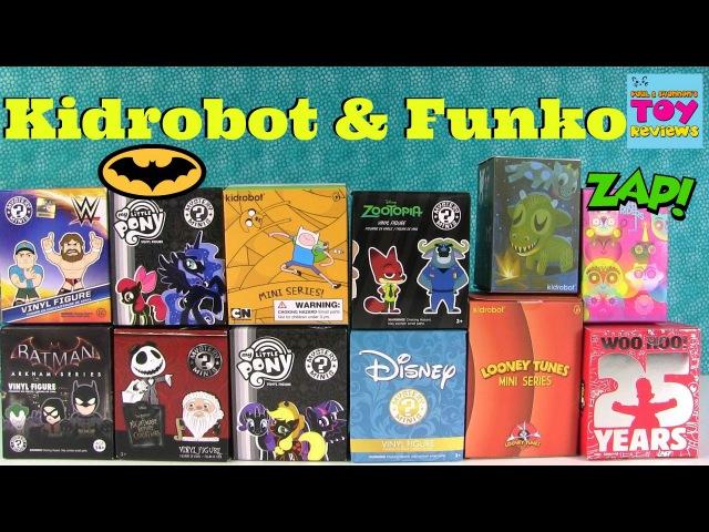Kidrobot Funko Mystery Minis Unboxing | Disney MLP Batman vs Superman PSToyReviews