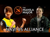 NaVi vs Alliance el clasico — Dendi mid Nyx and Huskar on Manila Major