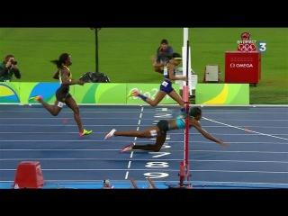 L'incroyable plongeon qui offre le titre du 400 m à Shaunae Miller.