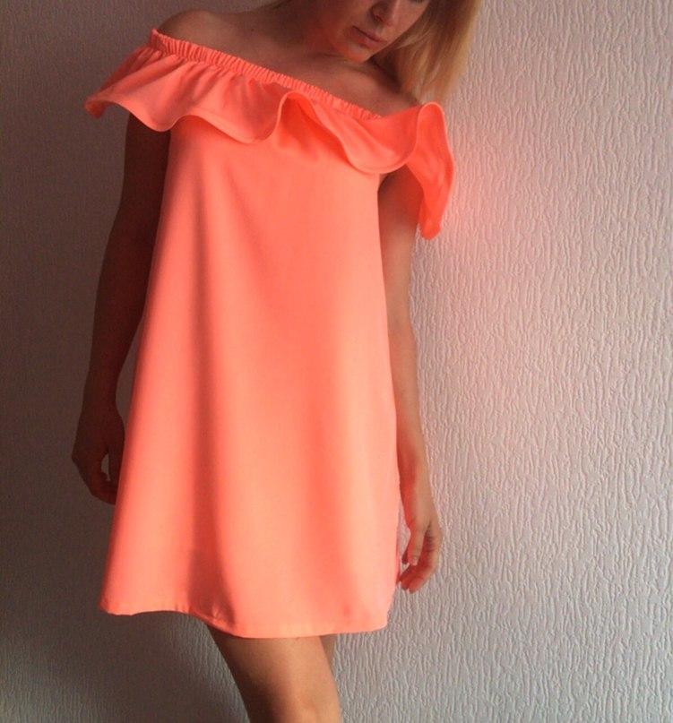 Платье с оборкой по низу своими руками 54