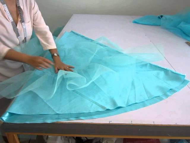 Como hacer una faldilla de tul o crinolina 5 . ARMADO